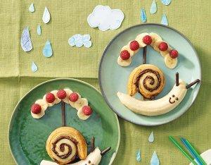 Schokoschnecken mit Bananen