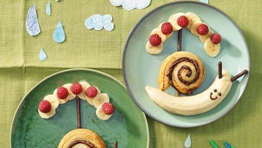 Schokoschnecken mit Banane
