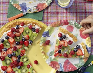 Obst-Pizza