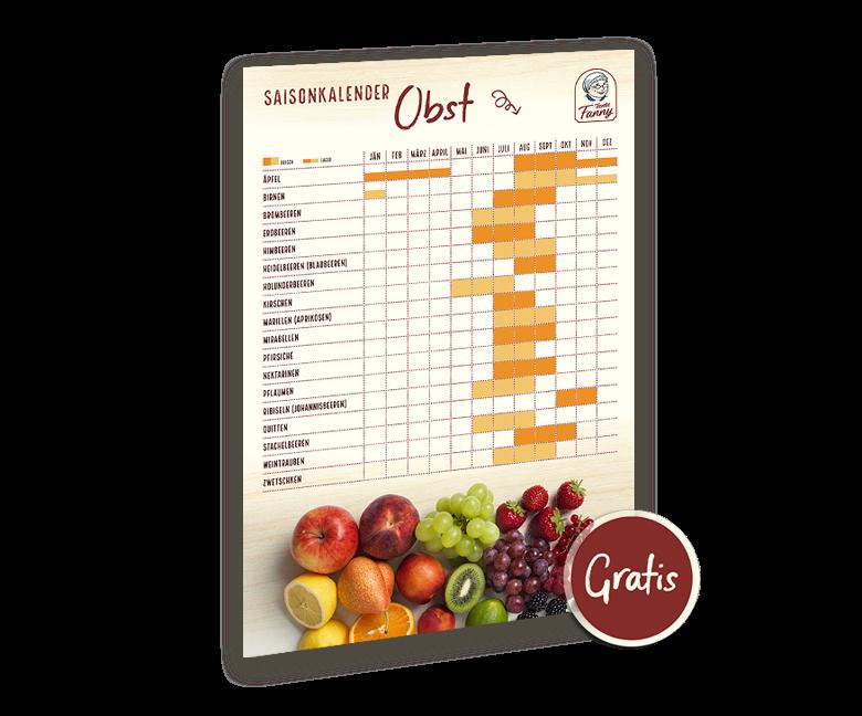 Obst Saisonkalender