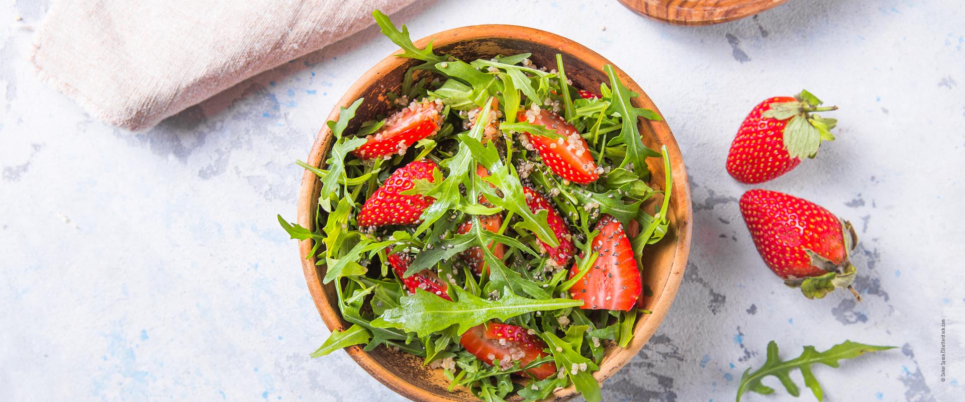 Erdbeer-Rucola Salat_Grillbeilagen