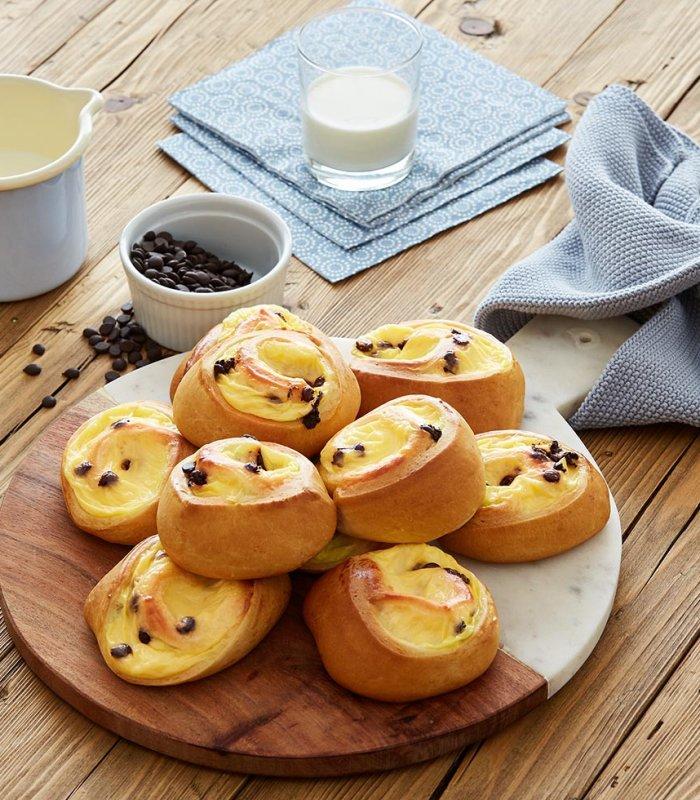 Puddingschnecken Hefeteig