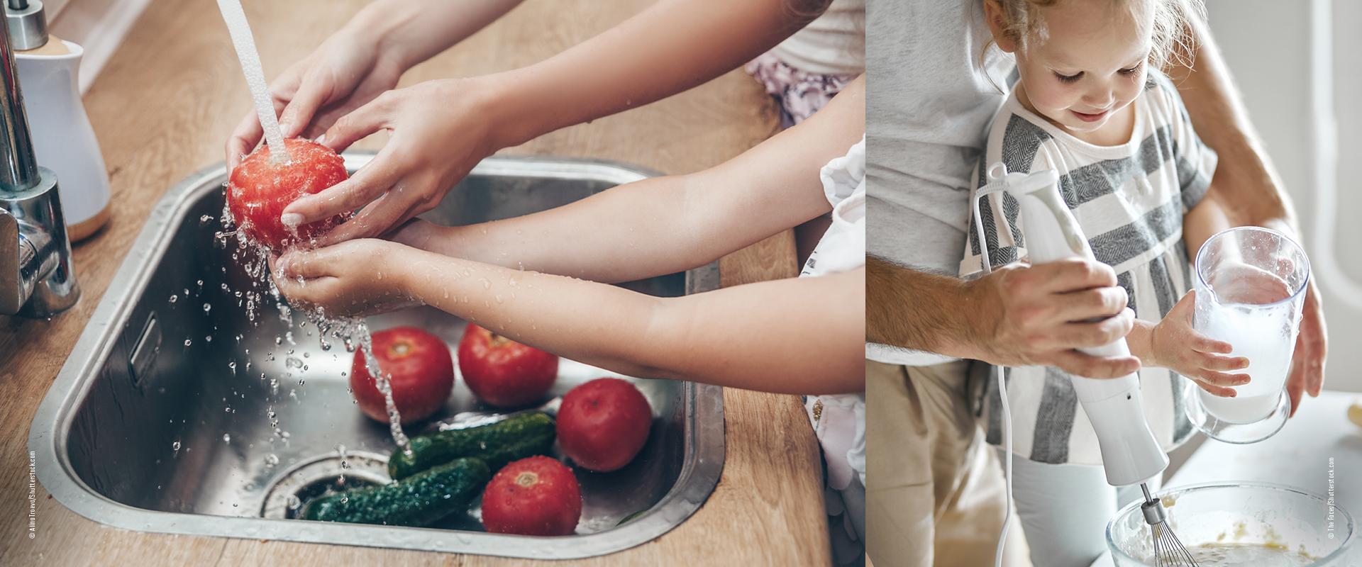 Kochen_mit_Kindern_Gemüse_waschen