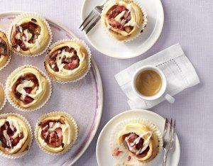 Rhabarber-Schnecken-Muffins