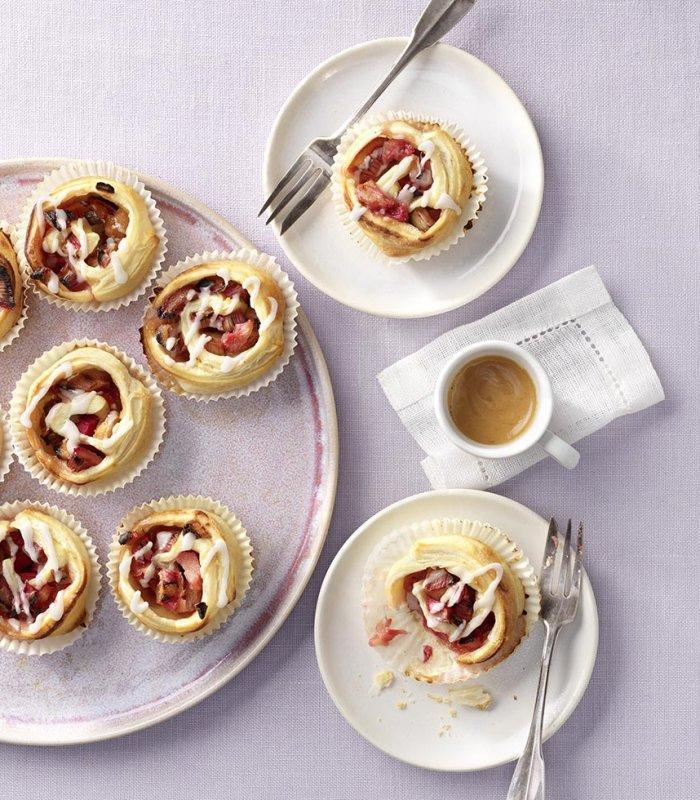 Rhabarber Schnecken-Muffins