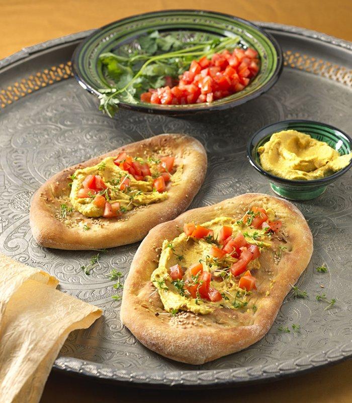 Pinsa Hummus