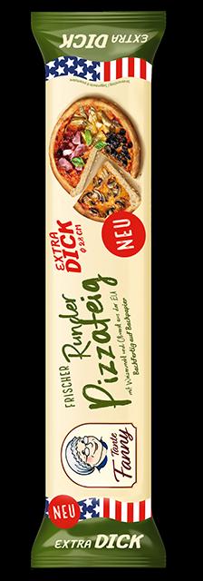 Frischer Pizzateig extra dick