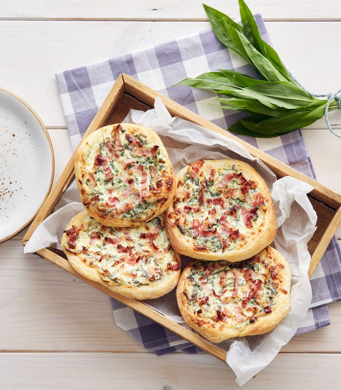 Bärlauch-Pizzen