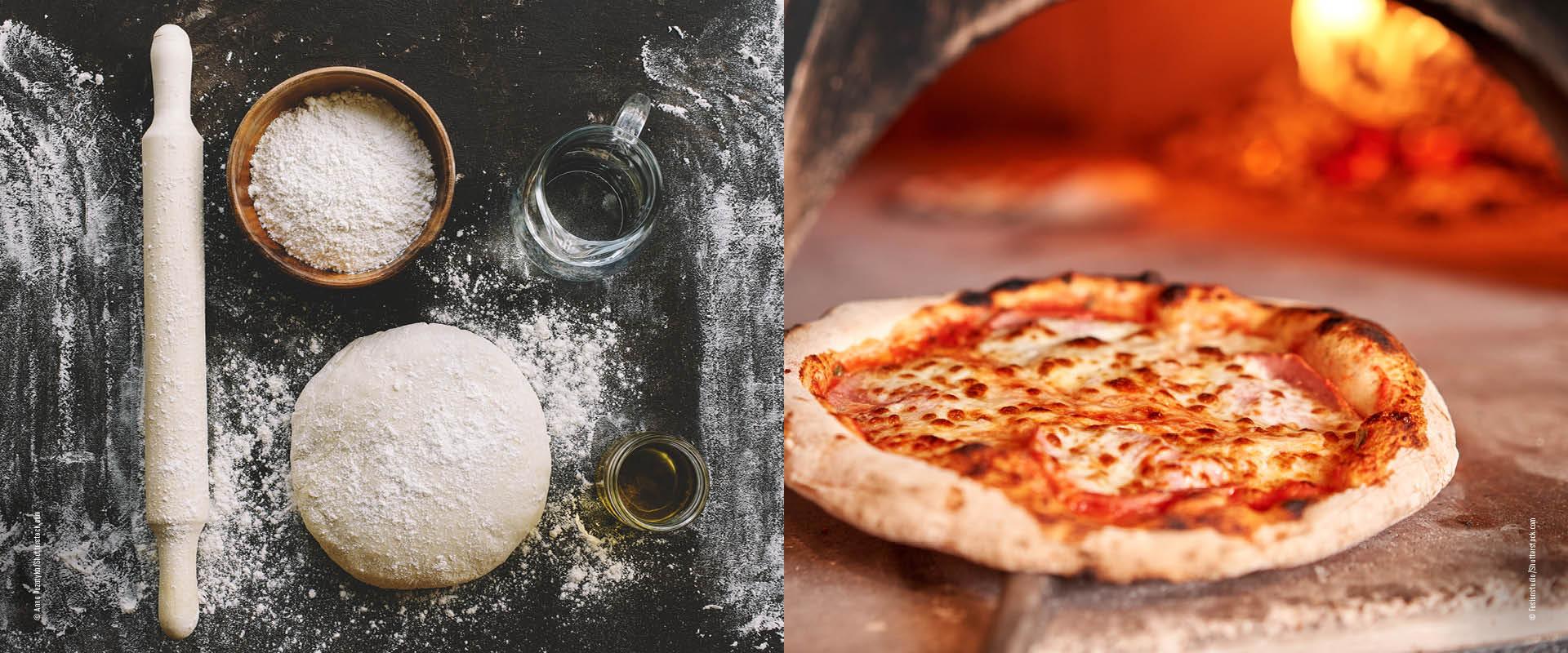 Zutaten für den Pizzateig