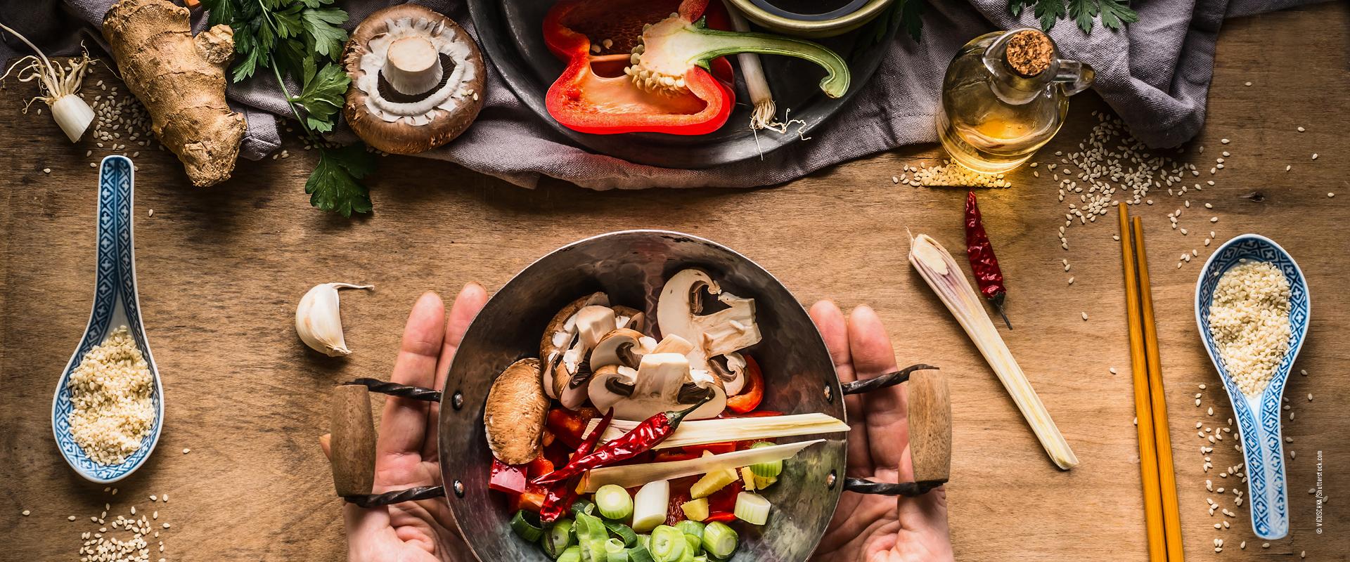 Asiatisch kochen mit Wok