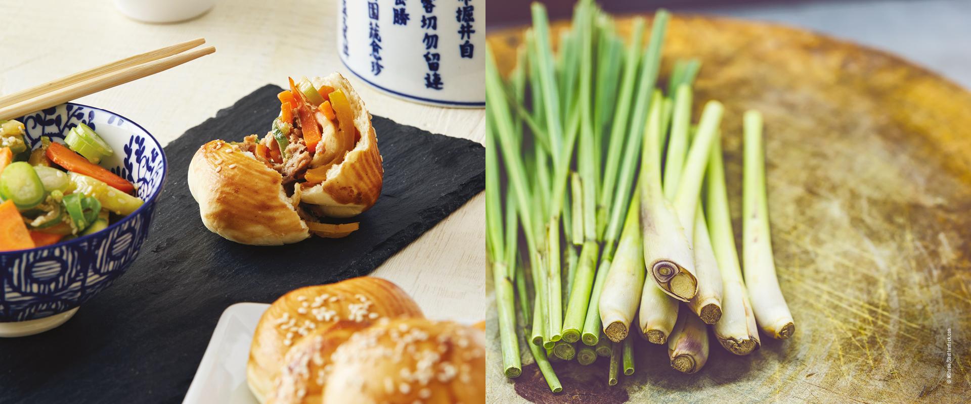 Bao Buns und Zitronengras